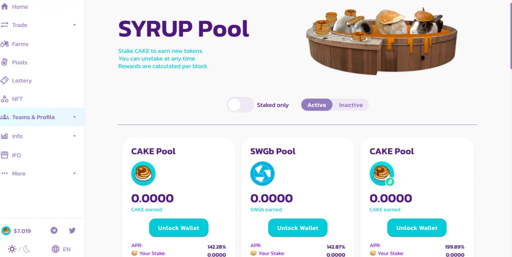 Syrup pool